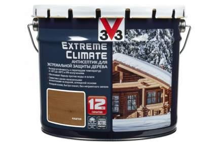 Антисептик для экстремальной защиты V33 Extreme Climate 9 л, Цвет каштан
