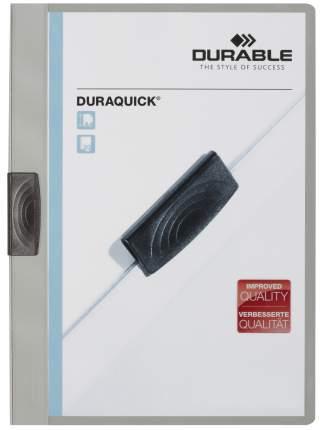 Папка с прижимным механизмом DURABLE DURAQUICK 227010 Серый А4