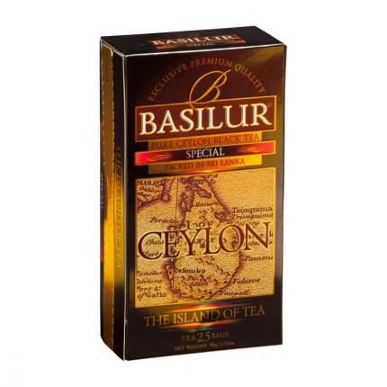 Чай Basilur Остров - Спешиал черный 25 пакетиков