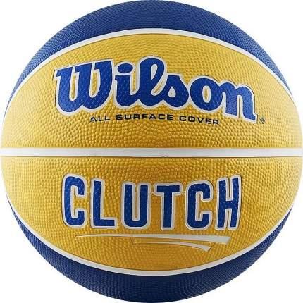Мяч баскетбольный Wilson Clutch 285 SS18, 6, желтый/синий
