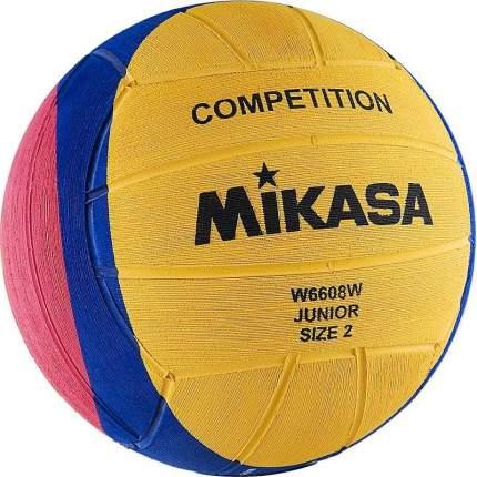 Мяч для водного поло Mikasa W6608W, 2, желтый/розовый/синий