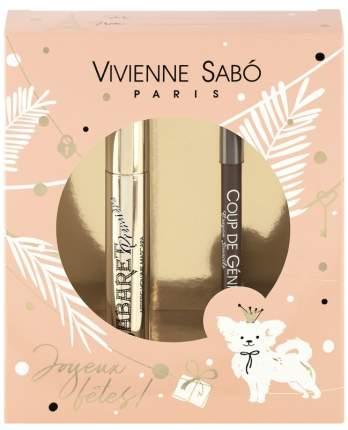 Подарочный набор Vivienne Sabo тушь Cabaret premiere тон 01+карандаш для бровей тон 001