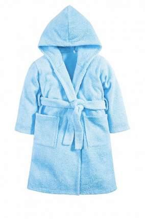 Халат Осьминожка с капюшоном махровый детский голубой 122 размер