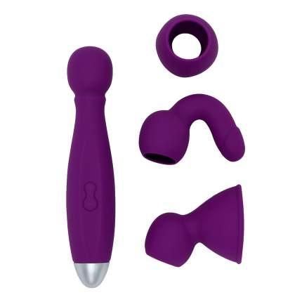 Вибратор с насадками для двоих RestArt Bowling RA-301 фиолетовый 9 режимов