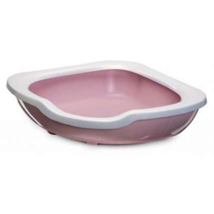 Лоток для кошек IMAC Fred с высоким бортом, пепельно-розовый, 51 х 51 х 15,5 см