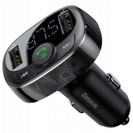 Автомобильное ЗУ с FM-трансмиттером 2xUSB Baseus T typed Bluetooth MP3 - Черное (CCTM-01)
