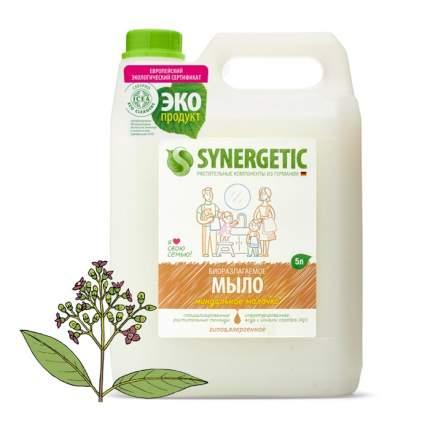 """Жидкое мыло SYNERGETIC """"Миндальное молочко"""" с эффектом увлажнения, гипоаллергенное, 5л"""