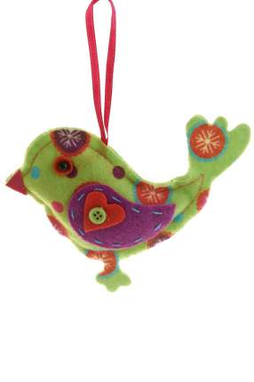 Елочная игрушка Monte Christmas Воробей N6090137 11 см 1 шт.