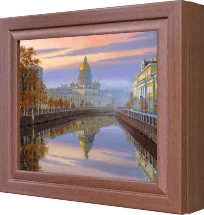 """Ключница """"Вид на Исаакиевский Собор, Санкт Петербург"""" Орех"""