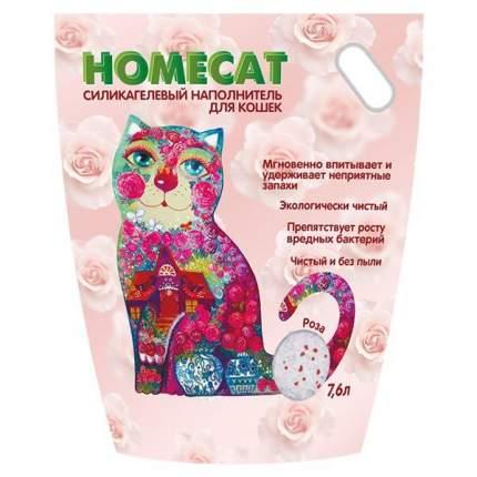 Наполнитель HOMECAT Роза впитывающий 7.6 л 3.6 кг силикагелевый
