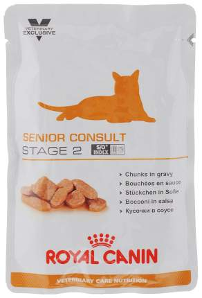 Влажный корм для кошек Royal Canin Senior Consult Stage 2, свинина, курица, 100г