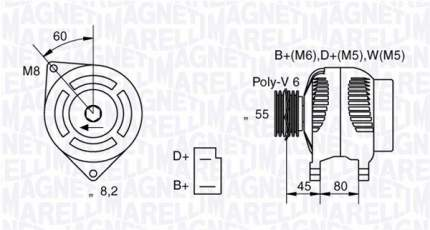 Генератор Magneti Marelli 063321042010