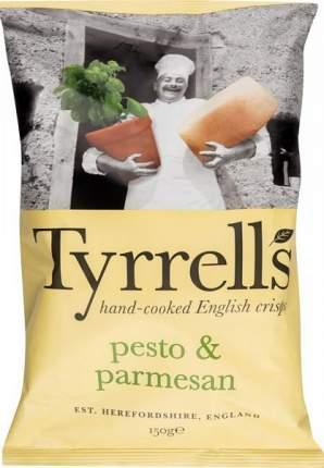 Чипсы картофельные Tyrrells со вкусом соуса песто и пармезана 150 г