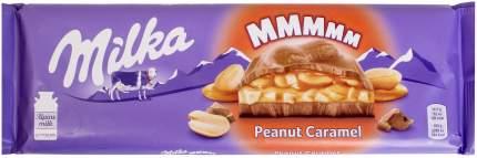 Шоколад трехслойный Milka арахис и карамель 276 г