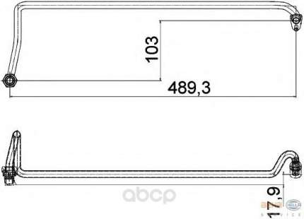 Трубка теплообменника Hella 8MY376755-571