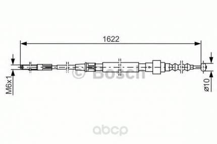 Трос cтояночного тормоза Bosch 1987477167