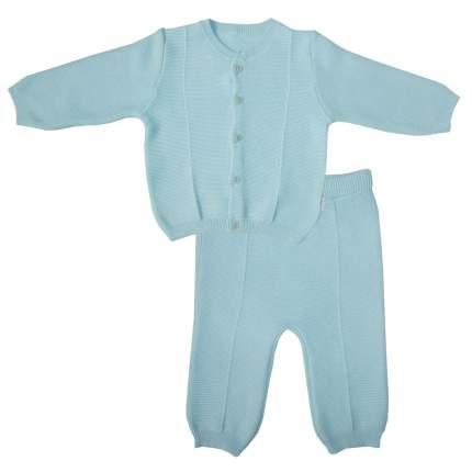 Комплект Папитто вязаный: кофточка и штанишки Голубой 73-7003 р.22-74