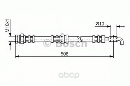 Шланг тормозной системы Bosch 1987476733 задний