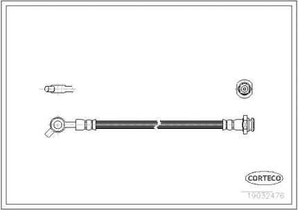 Шланг тормозной CORTECO 19032476