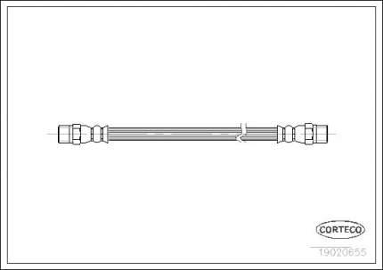 Шланг тормозной CORTECO 19020655