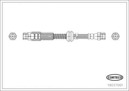 Шланг тормозной CORTECO 19037001