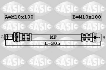 Шланг тормозной SASIC 6600052