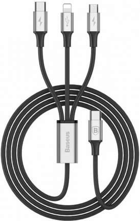 Кабель Baseus Rapid Series 3-in-1 microUSB/Lightning 1,2м Black/Silver