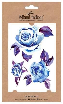 Переводные тату Miami Tattoos Blue Roses 1 шт