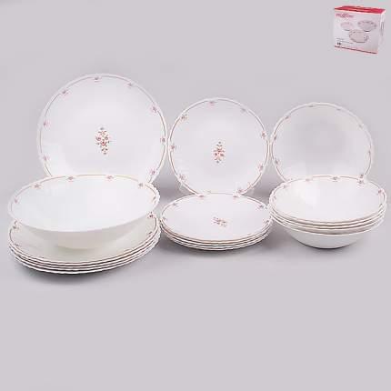 Набор посуды MILLIMI Наяда  818-101 опаловое стекло 19 предметов