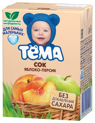 Сок Тёма Яблоко-персик с 5 мес. 200 мл
