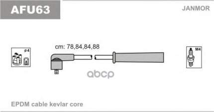 Комплект проводов зажигания JANMOR AFU63