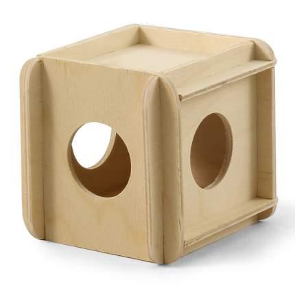 Игрушка-кубик деревянный для грызунов, в ассортименте, Россия 10*10*10 см