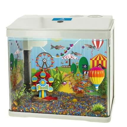 Аквариум для рыб Prime, детский, белый, полный комплект с оборудованием и декорациями, 15л