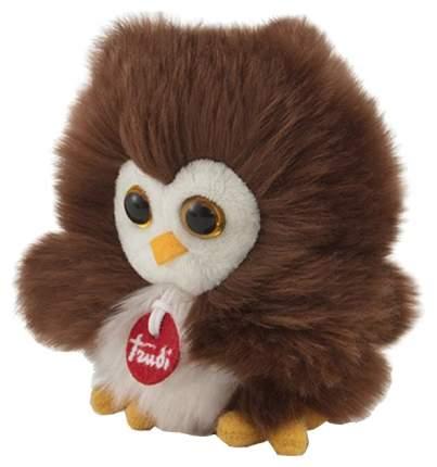 Мягкая игрушка птица Trudi Сова-пушистик на веревочке 10 см