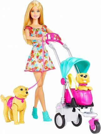 Кукла Barbie Барби прогулка со щенками CNB21