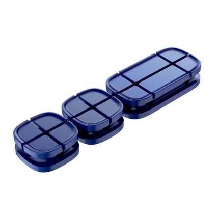Держатель Baseus Cross Peas Cable Clip Blue