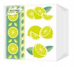 """Салфетки """"Bulgaree Green"""" """"Лимон"""" 1-но слойные 100 шт."""