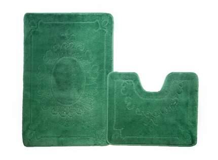Набор ковриков для ванной ЭКО изумрудный, SHAHINTEX 5620-1