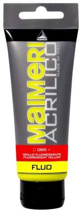 Акриловая краска Maimeri Acrilico M0924095 желтый флуоресцентный 200 мл