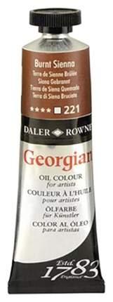 Масляная краска Daler Rowney Georgian сиена жженая 75 мл