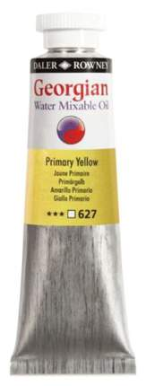 Масляная водорастворимая краска Daler Rowney Georgian желтый основной 37 мл