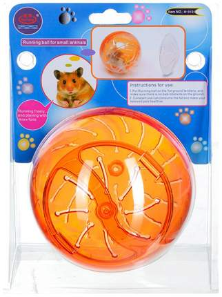 Шар прогулочный для грызунов Kredo M0101 оранжевый