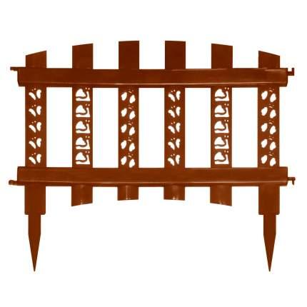 """Забор декор""""Палисадник""""тем.коричневый"""