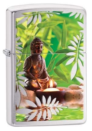 Бензиновая зажигалка Zippo Garden Buddha High Polish Chrome
