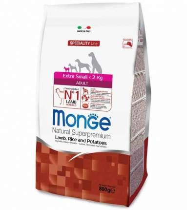 Сухой корм для собак Monge Speciality Extra Small, ягненок, картофель, рис, 0,8кг