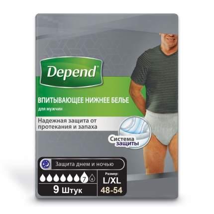 Впитывающее нижнее белье Depend для мужчин L XL 9 штук