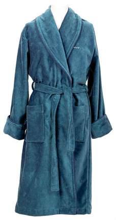 Халат банный Gant Home PREMIUM VELOUR ROBE M Голубой