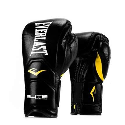 Боксерские перчатки тренировочные Everlast Elite Pro черные 14 унций