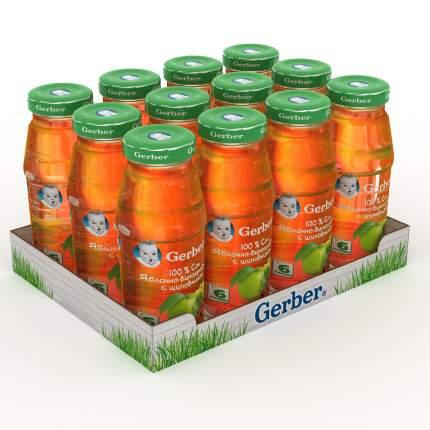 Сок Gerber яблочно-виноградный с шиповником осветленный (с 6мес.), 12 штук по 175мл.
