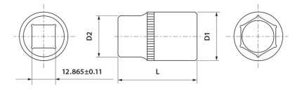 Торцевая головка THORVIK FS01217